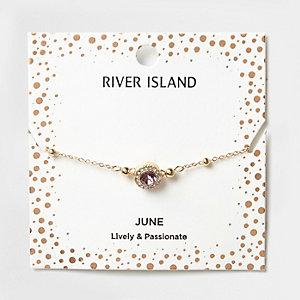 Armband mit lilafarbenem Geburtsstein des Monats Juni