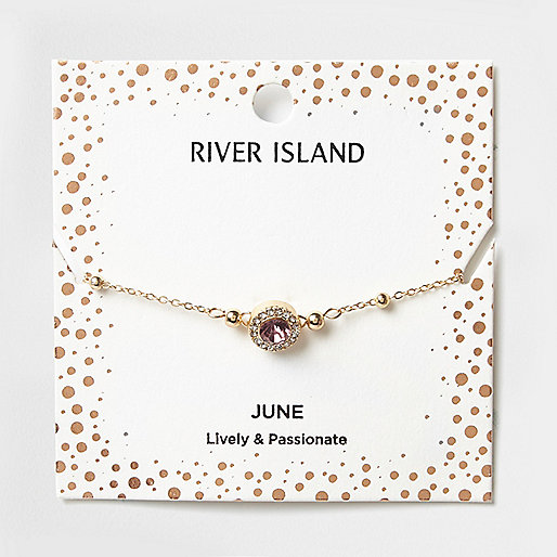 Purple gem June birthstone bracelet