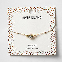 Green gem August birthstone bracelet