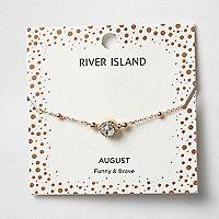 Bracelet avec pierres de naissance vertes mois d'août