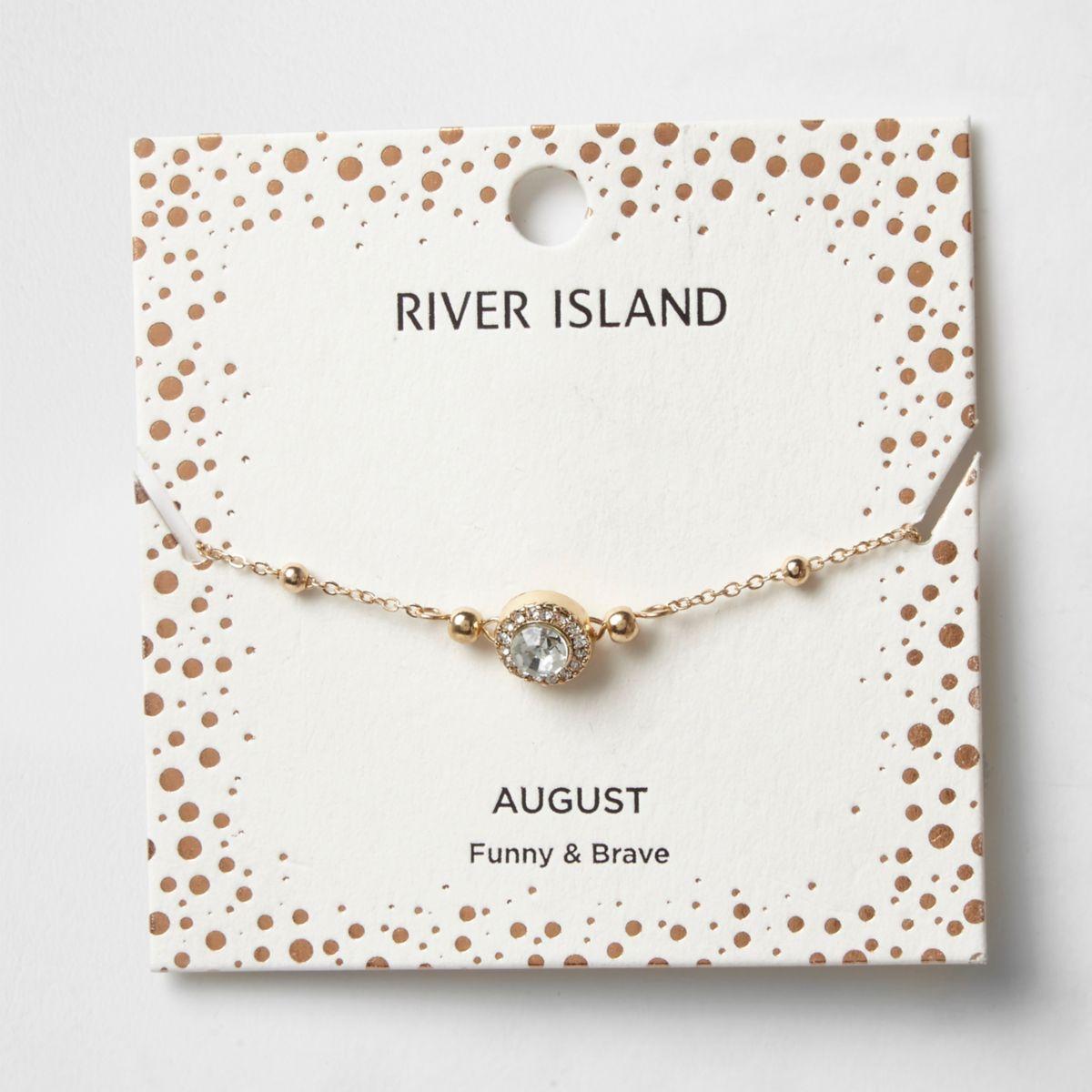 Green gem August birthstone bracelet