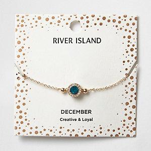Armband mit blauem Geburtsstein des Monats Dezember