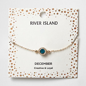 Blue gem December birthstone bracelet