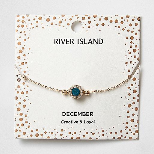Blue gem December birthstone bracelet