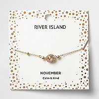 Orange gem November birthstone bracelet