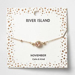 Bracelet à pierre de naissance mois de novembre