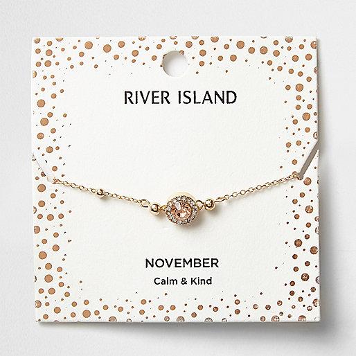 Orange gem November birthstone bracelet