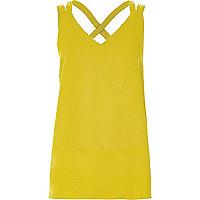 Green double strap cross back vest