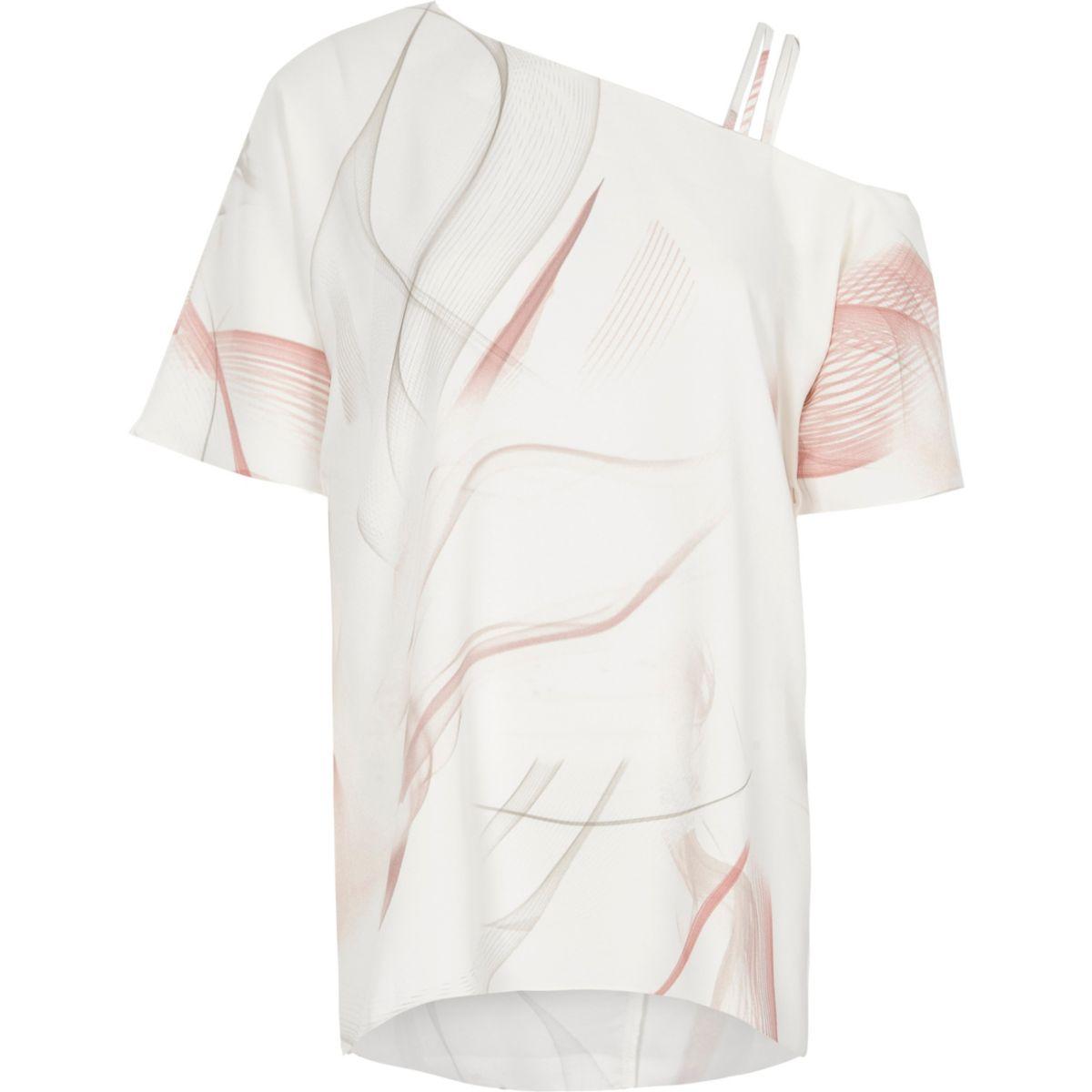 Pinkes, asymmetrisches Oberteil