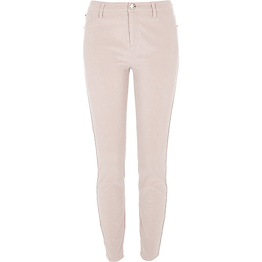 Light beige cord Molly skinny trousers