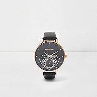 Zwart horloge met stras