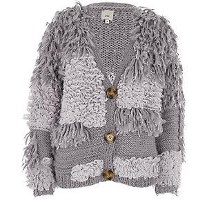 Crème oversized vest met grove lussteek