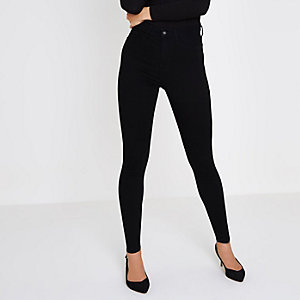 Black high waisted Harper skinny jeans