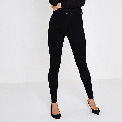 Black high waisted Harper skinny jeans