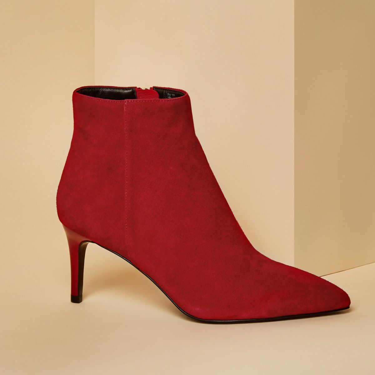 Cool Emporio Armani Womens Ankle Boots - Red Suede | EBay