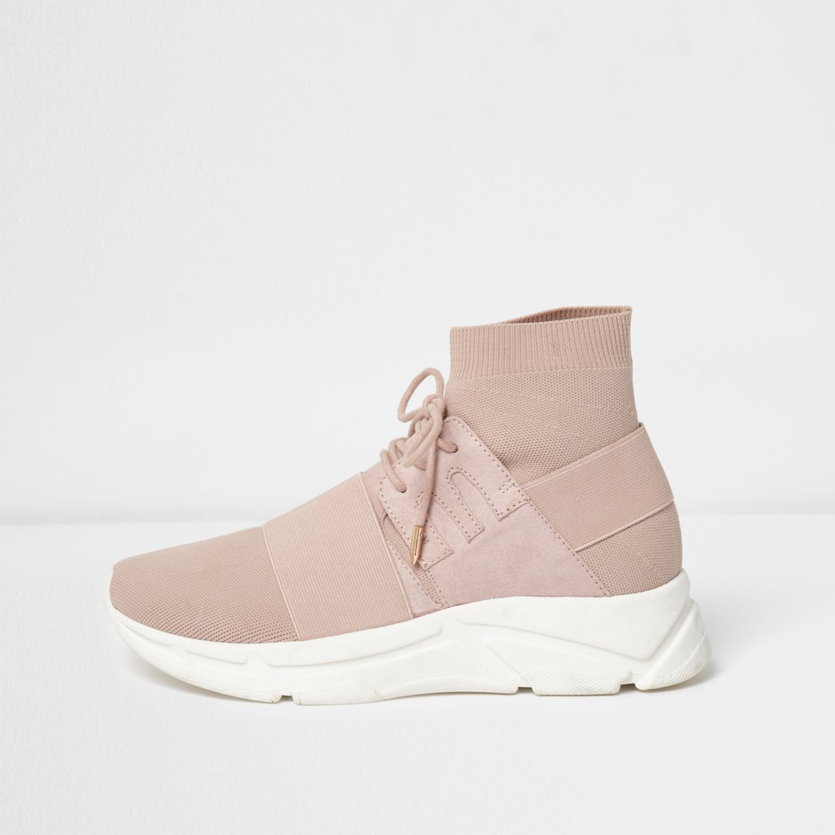 River Island Womens knitted runner sneakers