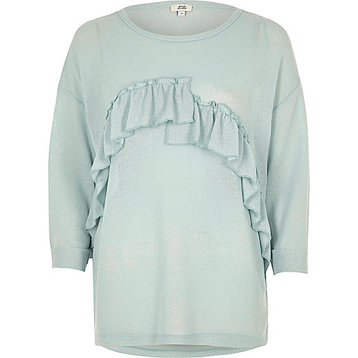 Green frill front top