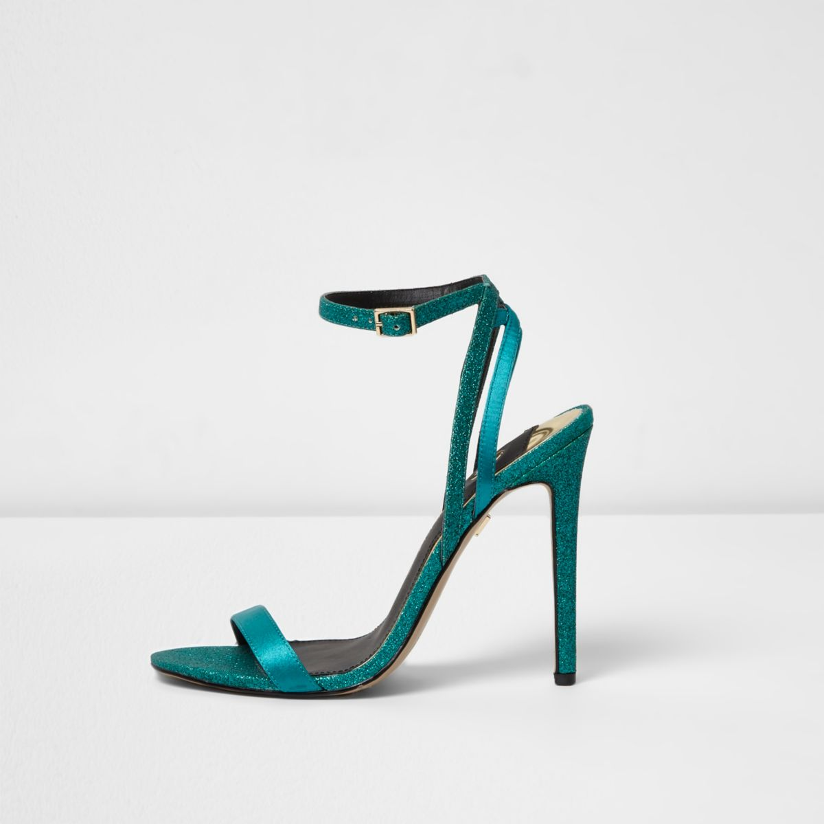 Barely There – Blaue, glitzernde Sandalen