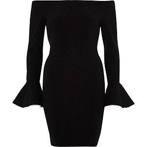 Bodycon-Kleid mit gerüschten Bündchen