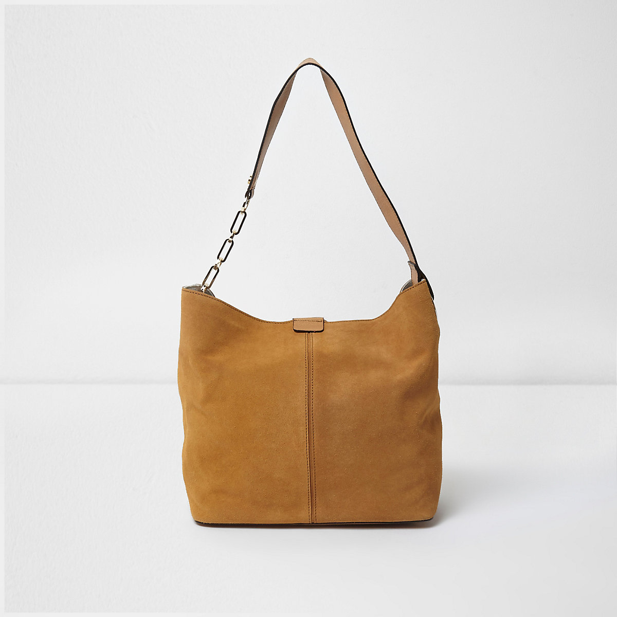 6e493dad930b Tan suede underarm slouch chain bag - Shoulder Bags - Bags   Purses - women