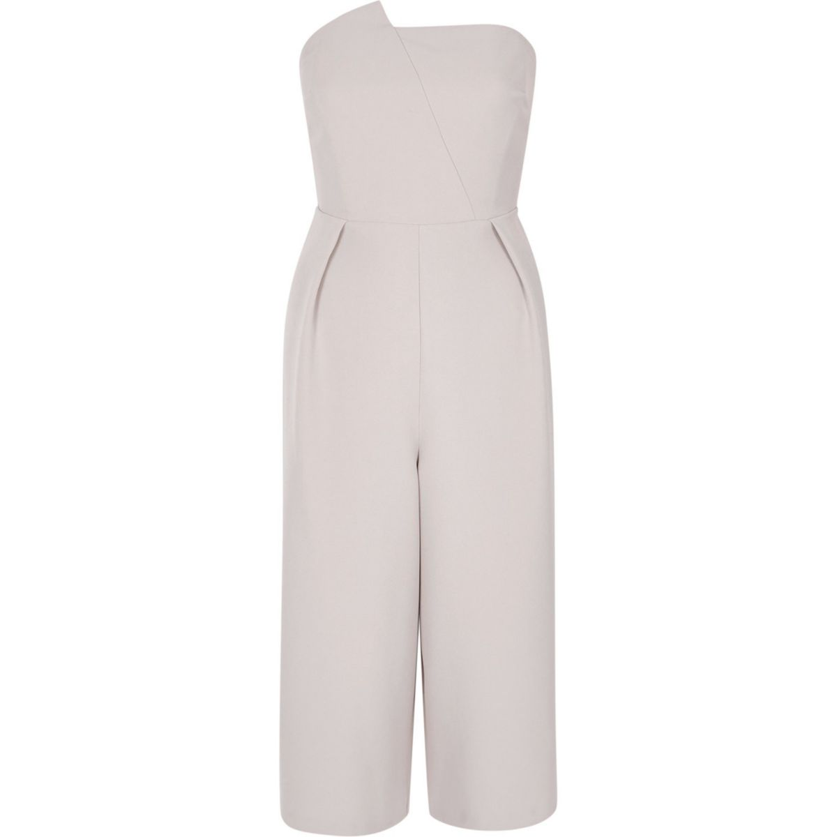 Light grey bandeau culotte jumpsuit