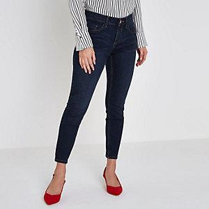 Petite dark blue Amelie super skinny jeans