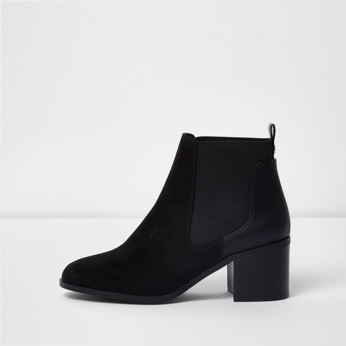 Women's Stacked Heel Ankle Chelsea Boot