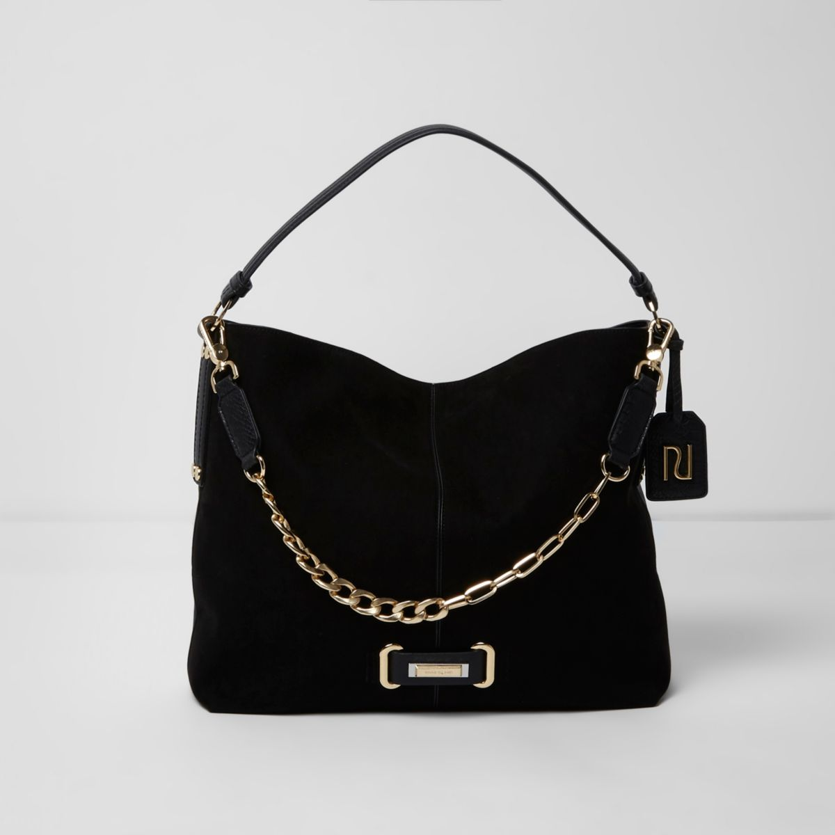 River Island Black Underarm Slouch Bag