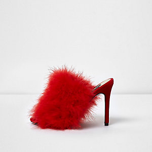 Red feather mules