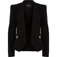 Black cropped blazer