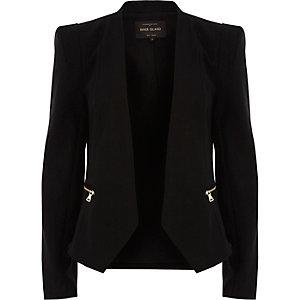 Zwarte cropped blazer
