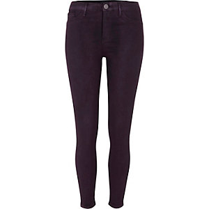 Purple wash coated Molly skinny jeggings