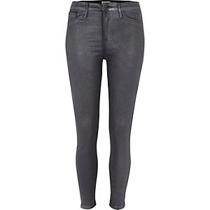 Grey glitter coated skinny Molly jeggings