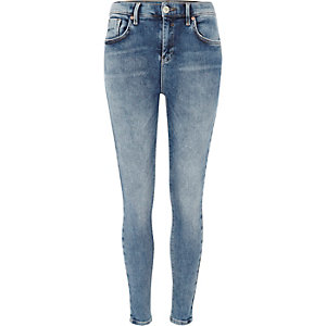 Mid authentic blue Amelie super skinny jeans