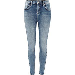 Amelie - Authentiek middenblauwe superskinny jeans