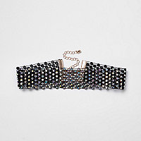 Black diamante choker
