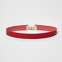 Red patent choker