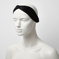 Black turban hair band