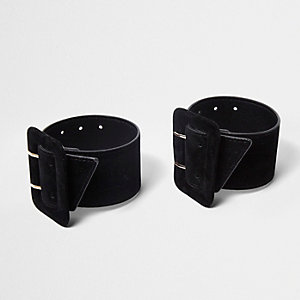 Zwarte schoenen met enkelbandje en gesp