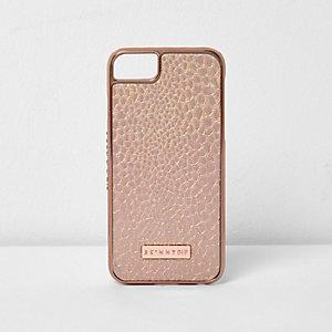 Coque effet peau de serpent dorée pour iPhone 6/7
