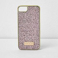 Pink glitter phone case