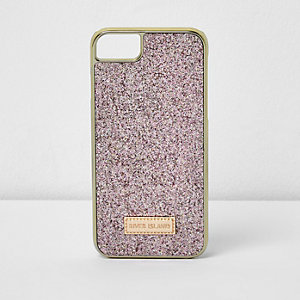 Roze glinsterende telefoonhoes