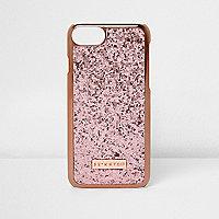 Skinny Dip - Goudkleurige en roze telefoonhoes met glitters