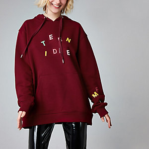 Burdundy Ashish 'teen idle' hoodie