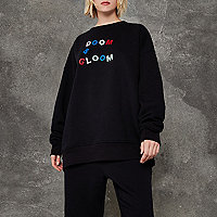 Ashish - Zwarte pullover met 'Doom and gloom'-print