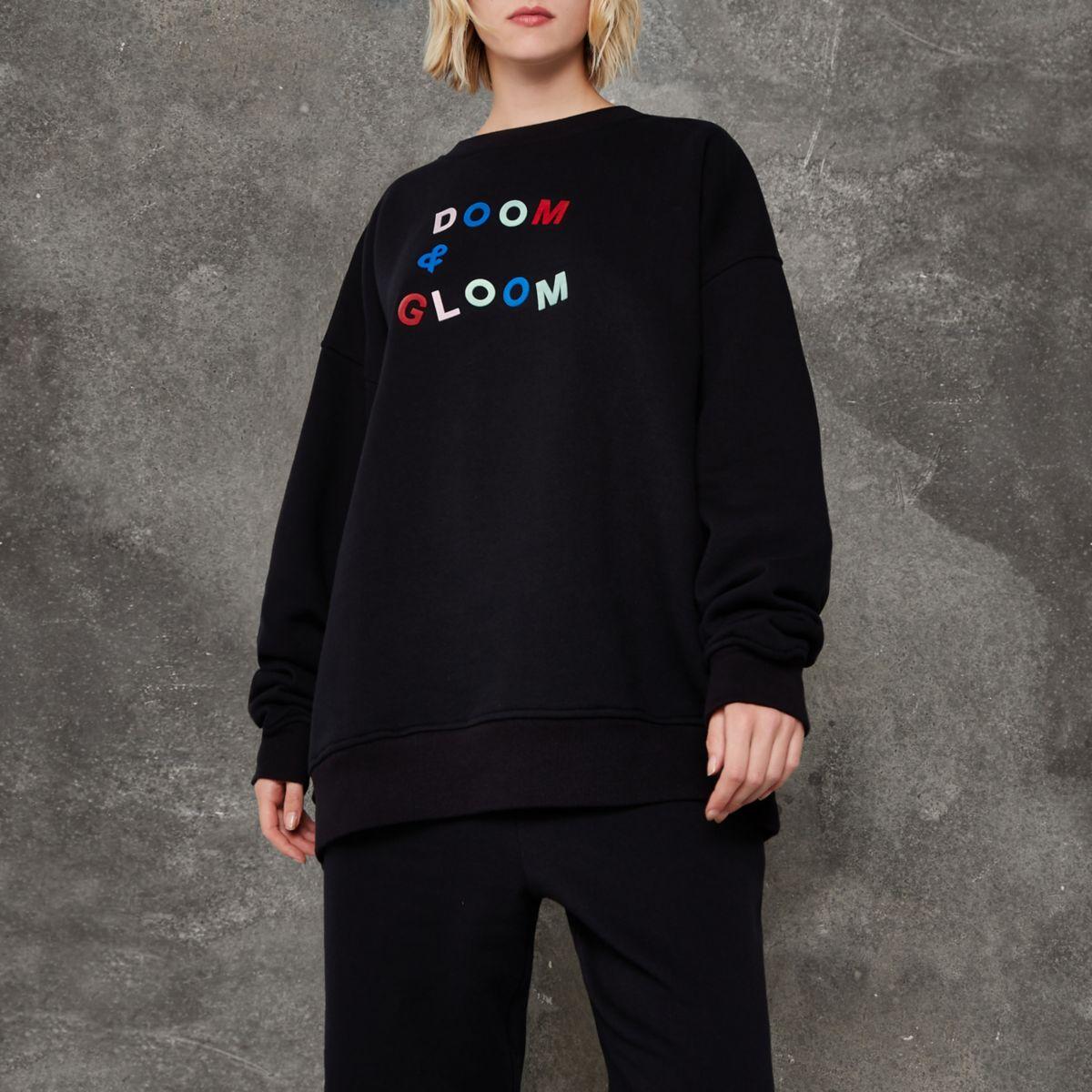 Black Ashish 'doom and gloom' jumper