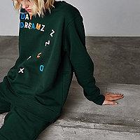 Ashish - Groen sweatshirt met 'Day dreamz'-print