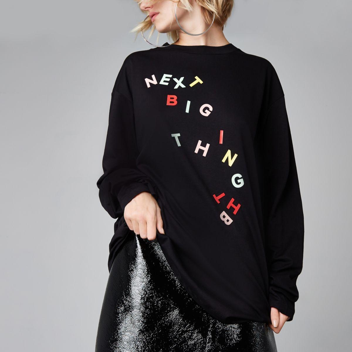 """Ashish – Schwarzes T-Shirt """"next big thing"""""""