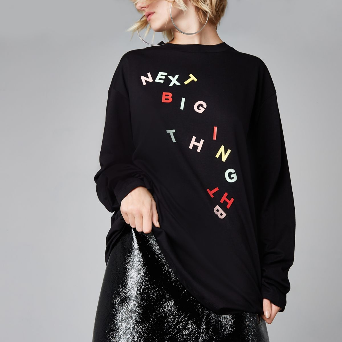 Ashish – T-shirt à inscription « Next big thing » noir