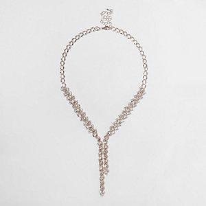 Collier chaîne doré rose